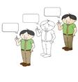 Office - presentation boy vector