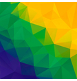 Abstract polygon background brazil flag colors vector