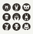 Set of stylized animal avatar for social network vector