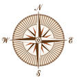 Vintage brown compass vector