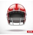 Realistic american football helmet vector