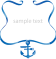 Sea food background with ribbon vector