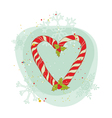 Vintage christmas candy wreath vector