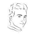 Face handsome man vector
