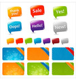 Web text boxes and speech bubbles vector