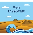 Happy passover- out of the jews from egypt vector