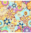 Hand drawn abstract floral background vector