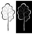 Trees black and white vector