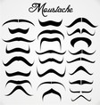 Moustache collection vector