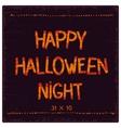 Halloween postcard design vector