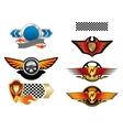 Racing sports emblems and symbols vector