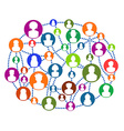 Global connecting people network vector