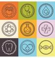 Outline logos - healthcare and medicine vector