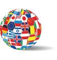 World flags ball vector