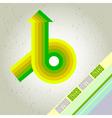 Retro arrow background vector