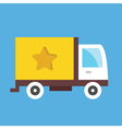 Cargo delivery truck icon vector