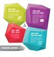 Infographic business concept - abstract forms vector