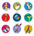 Human development icons vector