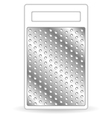 Metal grater isolated on white vector