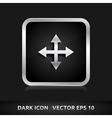 Maximize arrows icon silver metal vector