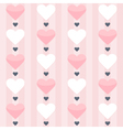 Seamless pattern with pink and white hearts on a vector