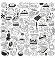 Sweet baking doodles vector