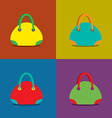 Women bags on colorful background vector