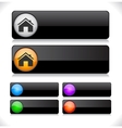 Website template buttons vector