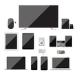 Electronic devices icons set vector