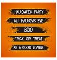 Halloween themed graffiti ribbons vector