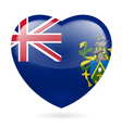 Heart icon of pitcairn islands vector