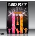 Urban dance party flyer vector