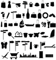 Stuff black silhouette and more vector