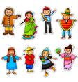 Ethnic diversity vector