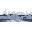 Blue city silhouette vector
