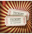 Cinema tickets on retro rays background vector