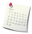 2013 april calendar vector