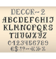 Vintage decorative english alphabet vector