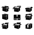 Shipping box icons vector
