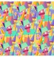 Pattern cartoon castle flat vector