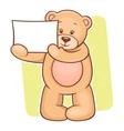 Teddy bear sign vector