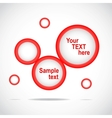 Abstract web site red design template vector
