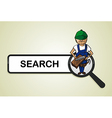 Service search carpenter boy cartoon vector