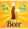 Beer bottle poster vector