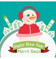 Happy new year greeting card - home background vector