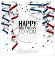 Birthday card with curling stream confetti and vector