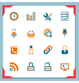Internet and web icons in a frame series vector
