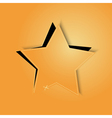 Golden paper star vector