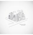 Cityscape background vector
