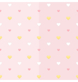 Seamless pattern with white yellow and pink hearts vector